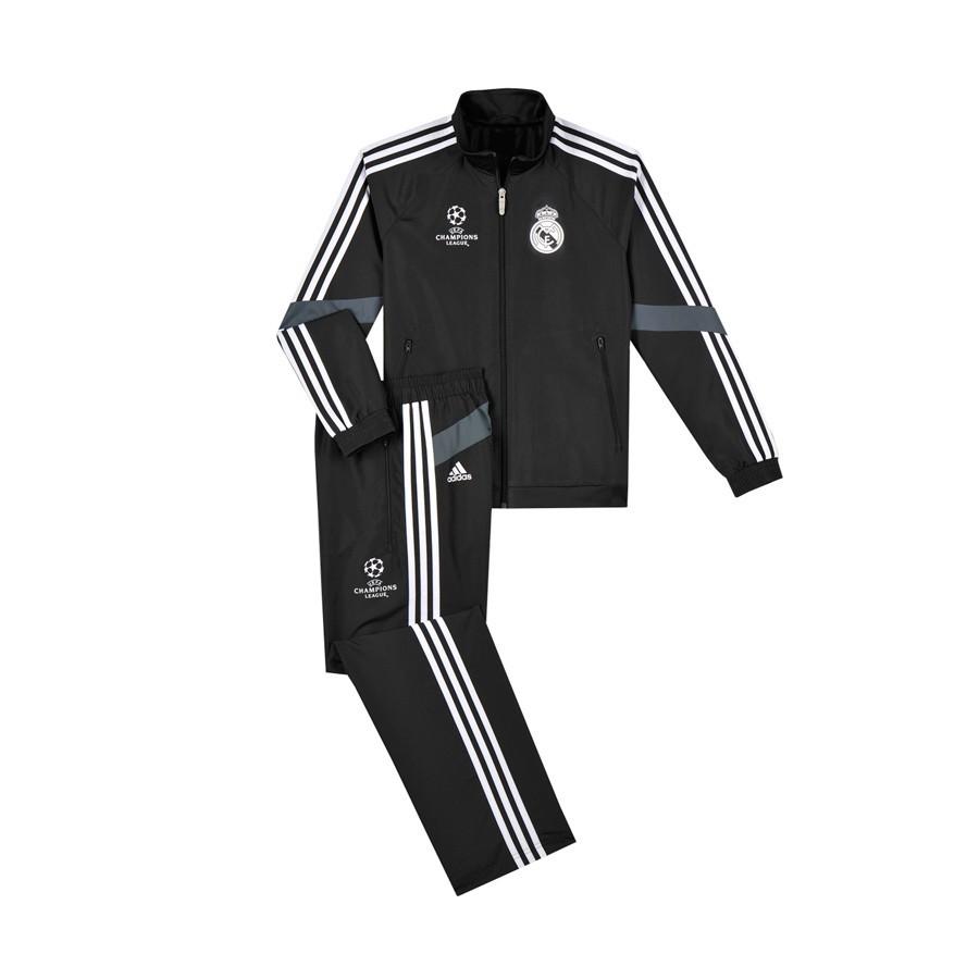 c515736684814 Chándal adidas Real Madrid Tercera Equipación 2014-2015 Niño Negro - Tienda  de fútbol Fútbol Emotion
