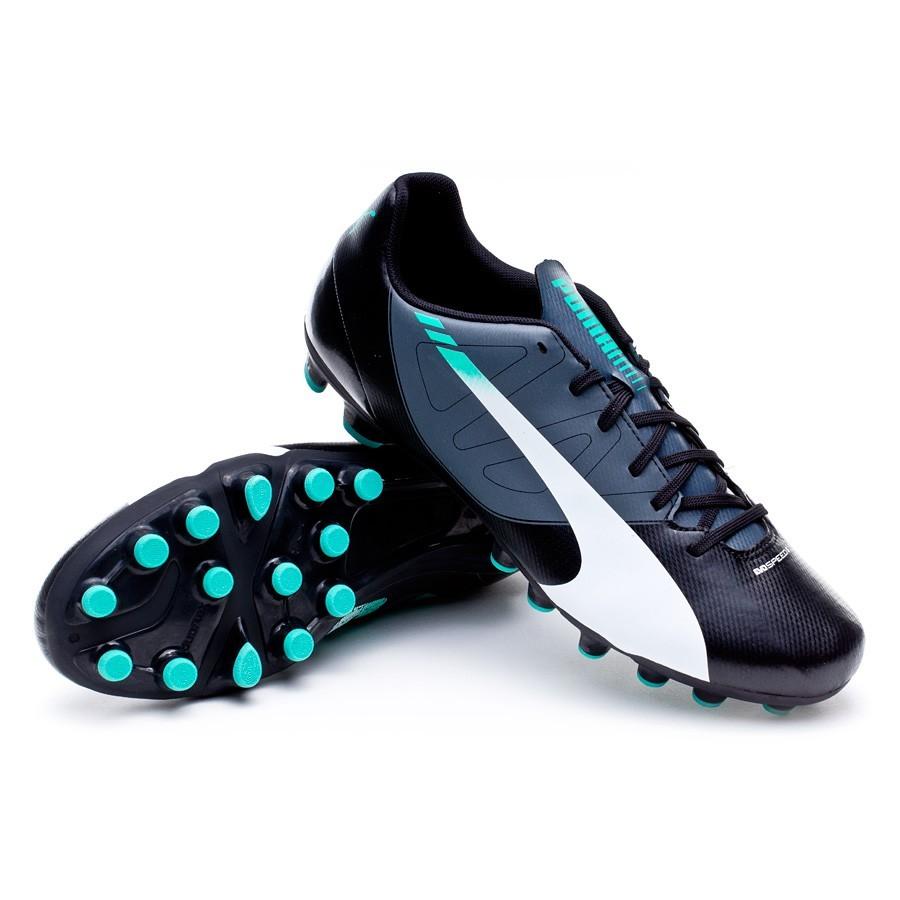 b5ec764dc8b Bota de fútbol Puma evoSPEED 5.3 AG Black-White-Turbulence-Pool green-Scuba  blue - Soloporteros es ahora Fútbol Emotion