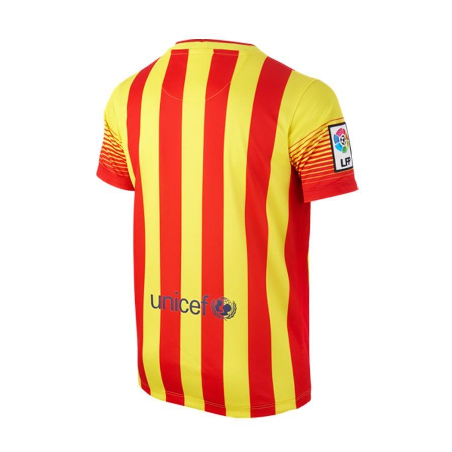 6f68ddff514 Jersey Nike Jr FC Barcelona Senyera Away 2014-2015 Red-Yellow ...