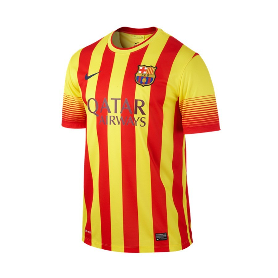 Maillot nike fc barcelone senyera ext rieur 2014 2015 for Maillot exterieur barcelone 2014