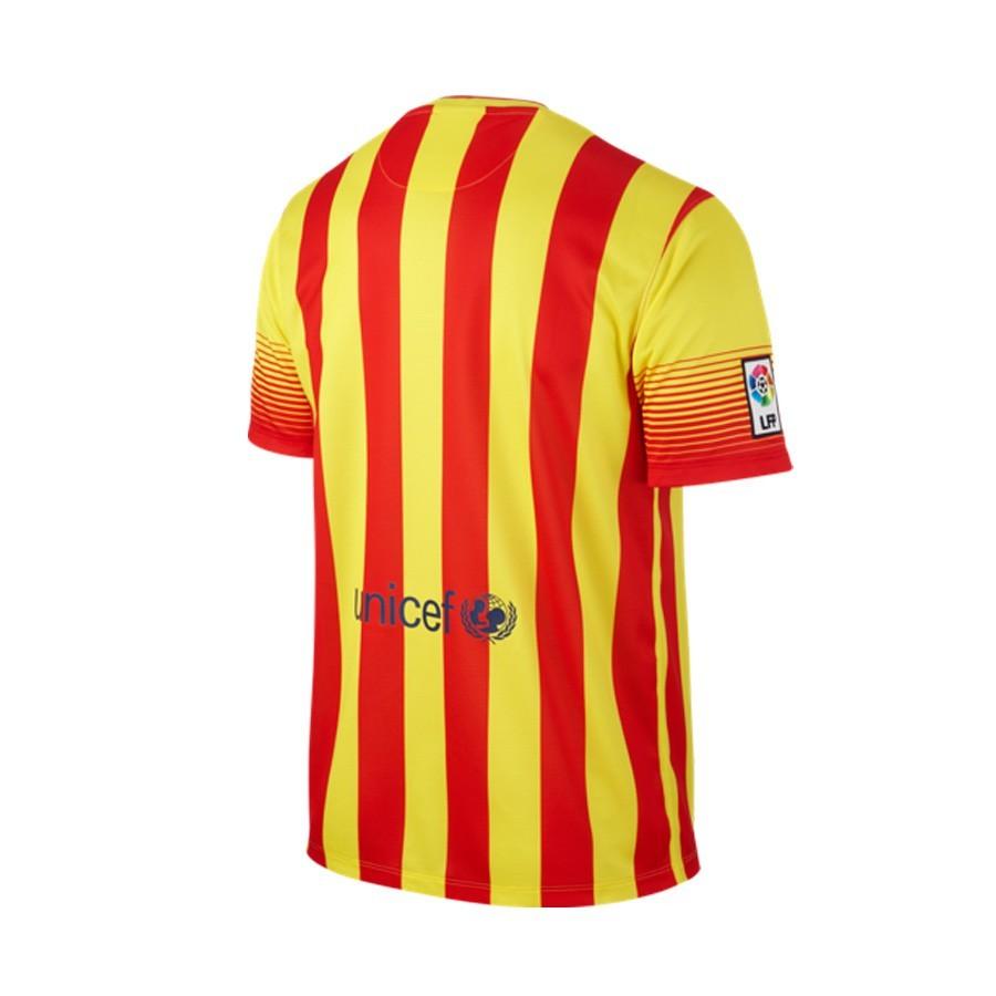 87d77e28f0c16 Camiseta Nike FC Barcelona Senyera Segunda Equipación 2014-2015  Roja-Amarilla - Tienda de fútbol Fútbol Emotion