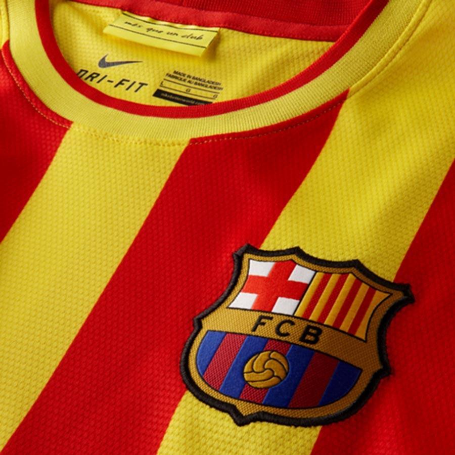 6d00bc1e211 Jersey Nike FC Barcelona Senyera Away 2014-2015 Red-Yellow - Tienda de  fútbol Fútbol Emotion