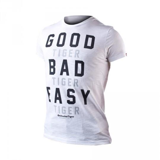 Camiseta  Onitsuka Tiger Fashion Good  Bad Easy White