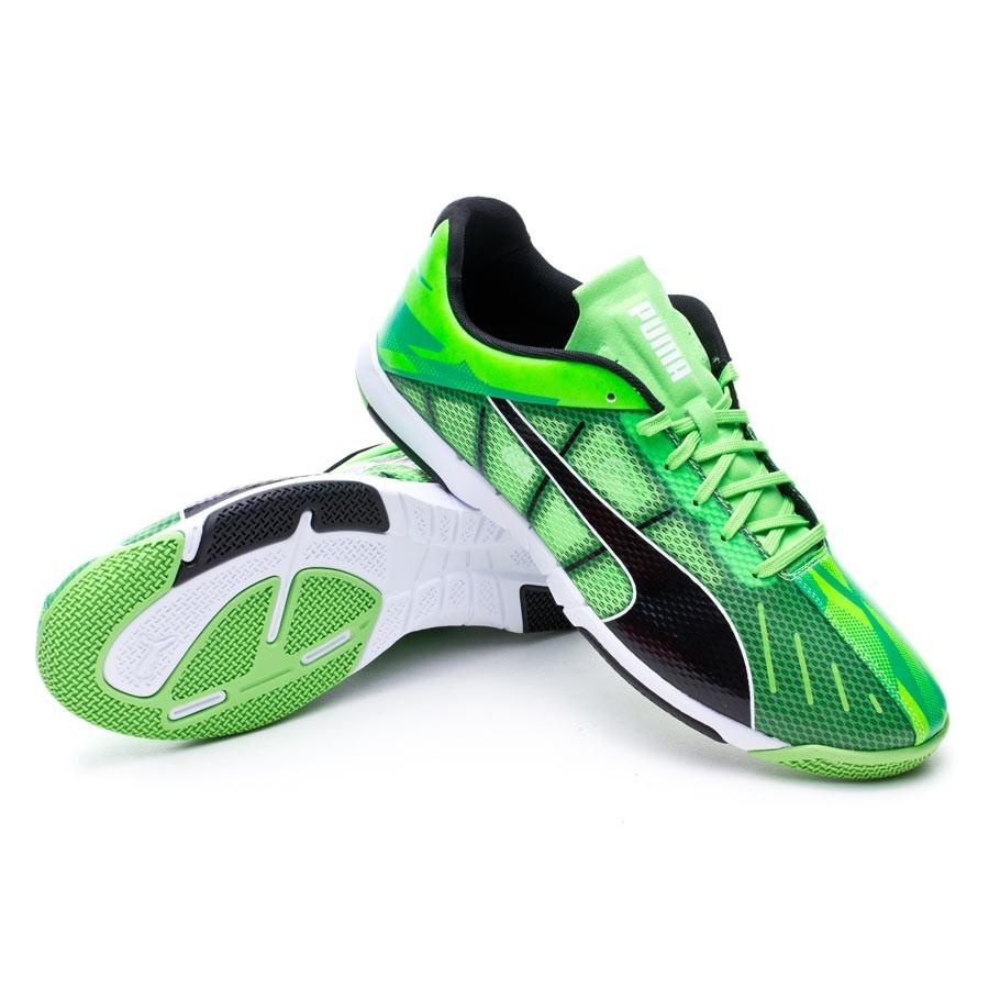 b2e8d9a40 Futsal Boot Puma Neon Lite 2.0 Fluor green-Black-White - Football ...