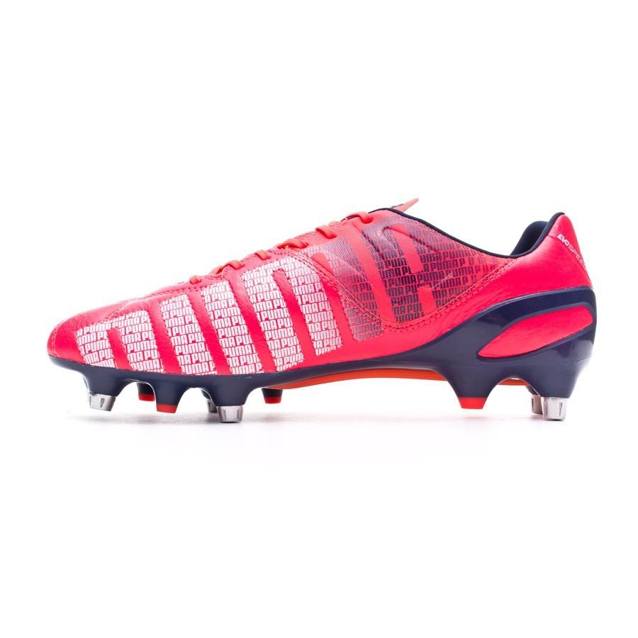 a083d27c29b Boot Puma evoSPEED 1.3 Lth Mixed SG Bright plasma-White-Peacoat -  Soloporteros es ahora Fútbol Emotion