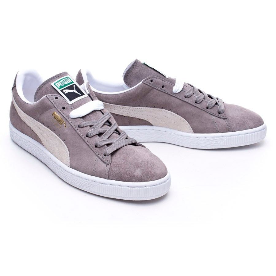 best sneakers f3520 85678 Zapatilla Suede Classic + Steeple gray-White