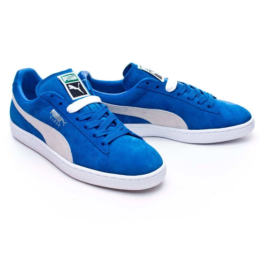 97119159592 Trainers Puma Suede Classic + Strong blue-White - Football store ...