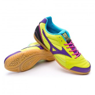 Futsal Boot  Mizuno Sala Club 2 IN Lime-Purple-Blue
