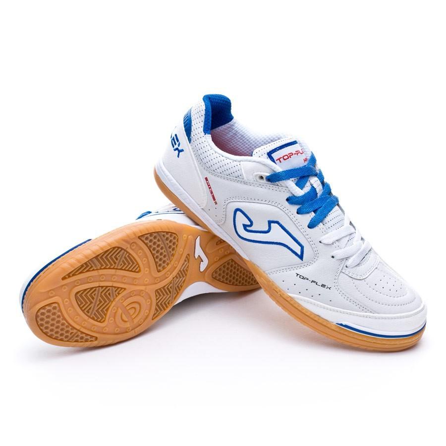 ... Zapatilla Top Flex Blanco-Azul. Categorías de la Zapatilla de fútbol  sala 47080f1c158ea