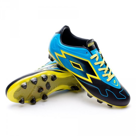 Chuteira  Lotto Zhero Gravity VI 300 FG Black-Fluor blue