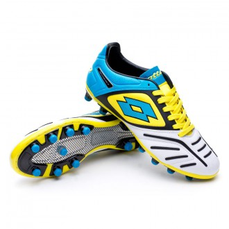 Bota  Lotto Stadio Potenza V 200 FG White-Fluor blue