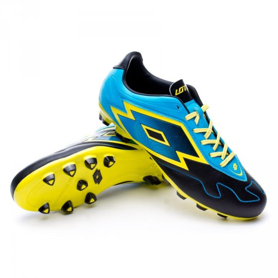Chuteira  Lotto Zhero Gravity VI 700 FG Black-Fluor blue