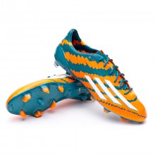 Messi 10.1 TRX FG Power teal-White-Solar orange