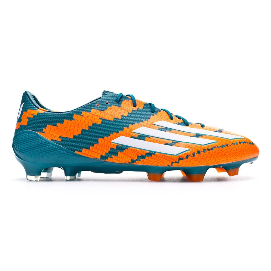 Chuteira adidas Messi 10.1 TRX FG Power teal-White-Solar orange ... 0e941a561ee85
