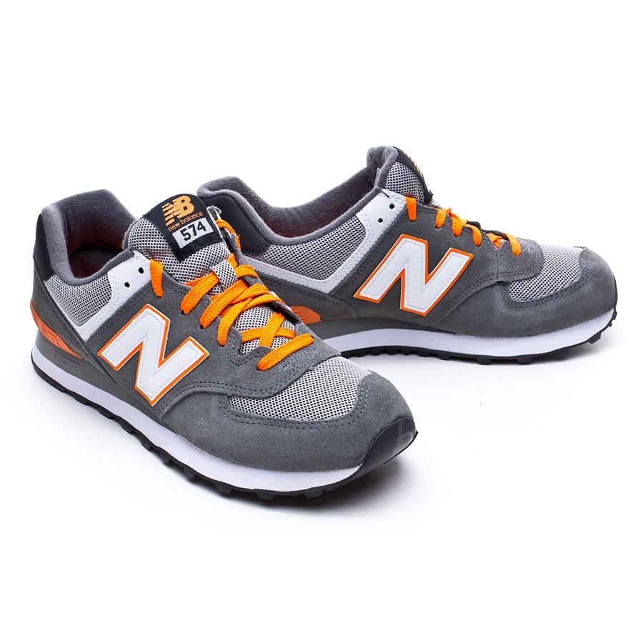 zapatillas new balance gris y naranja