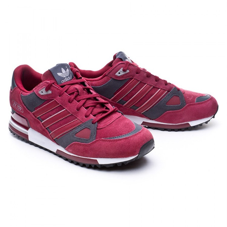 Trainers adidas ZX 750 Burgundy-burgundy-solid grey - Football store ... 1569b95aeee8