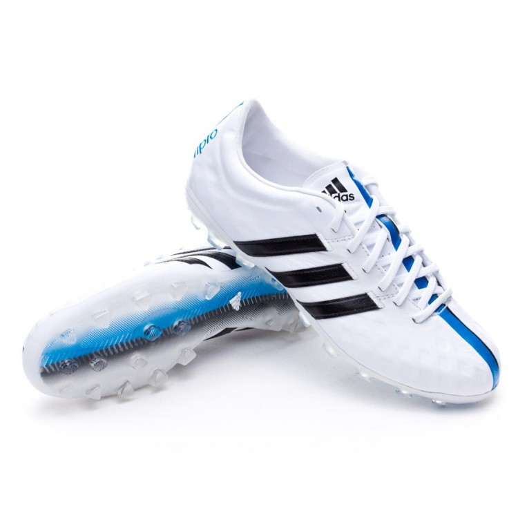 Caballero Inspector Canciones infantiles  Football Boots adidas adipure 11Pro TRX AG White-Black-Solar blue -  Football store Fútbol Emotion
