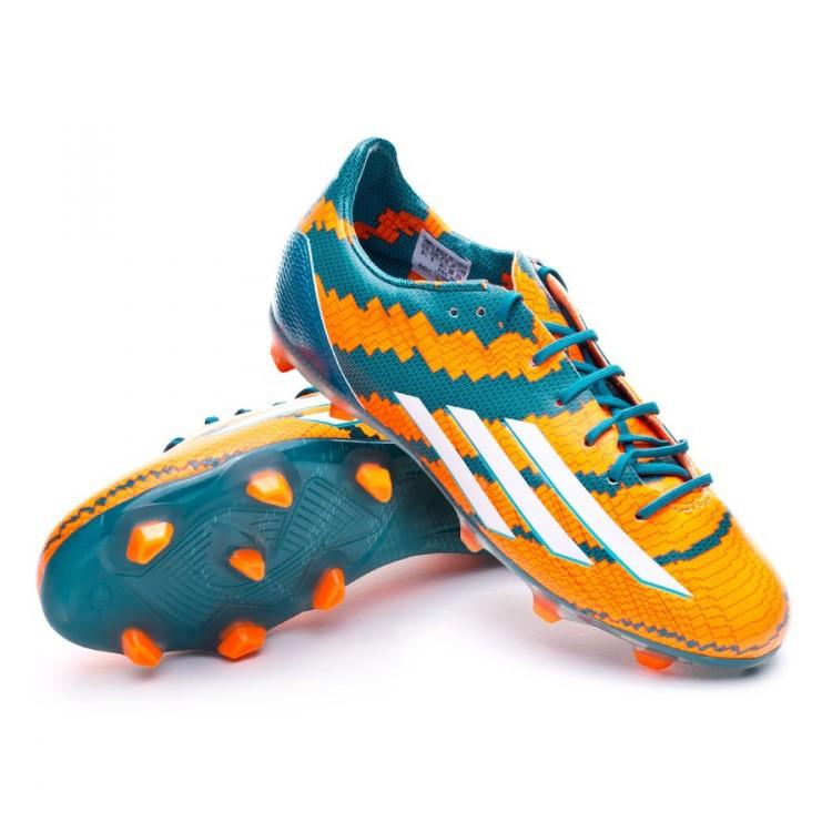 Chaussure de football adidas Jr Messi TRX FG Blanc Power teal Blanc FG 03b5fd