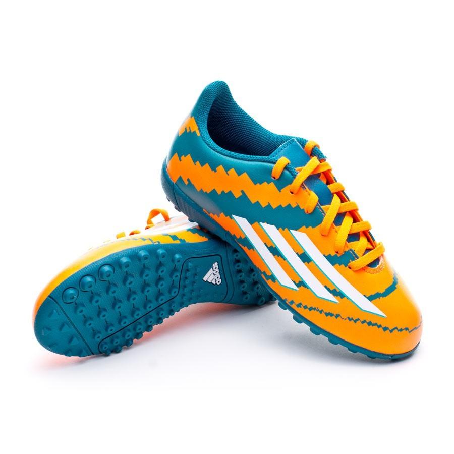 ... Bota Messi 10.4 Turf Niño Power teal-White-Solar orange. CATEGORÍA. Zapatos  de fútbol · Zapatos adidas 912bffa32ba55