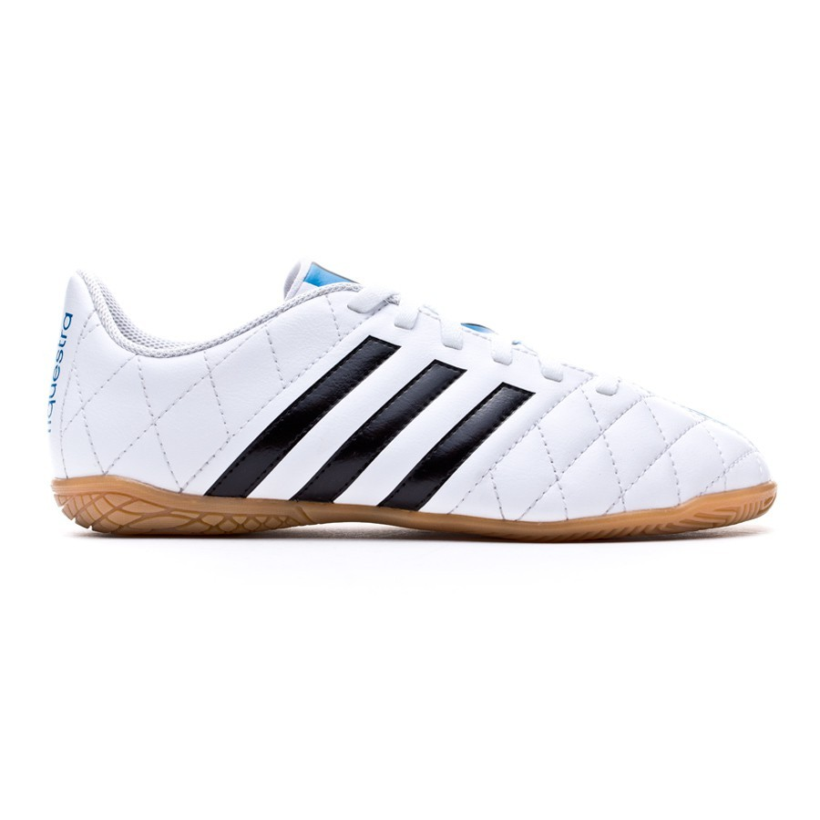 Futsal Boot adidas Jr 11Questra IN White-Black-Solar blue - Football store  Fútbol Emotion 074ddec8a