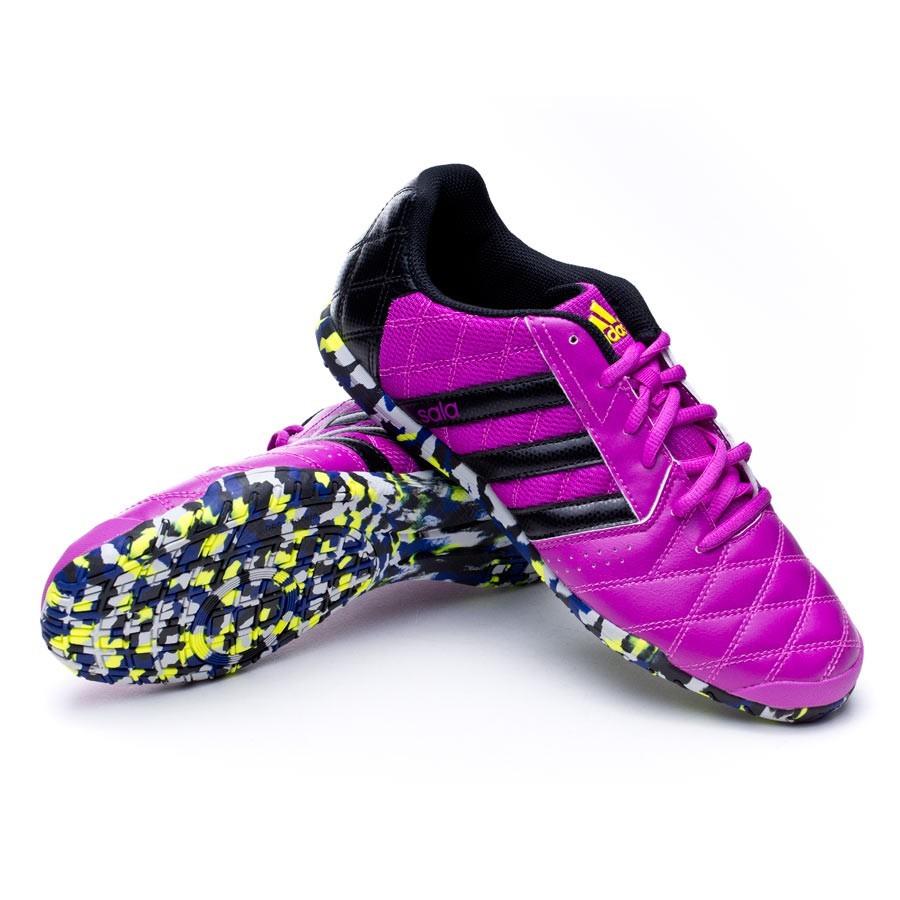 Futsal Boot adidas Supersala Flash pink-Black-Solar yellow - Football store  Fútbol Emotion d84261877f079