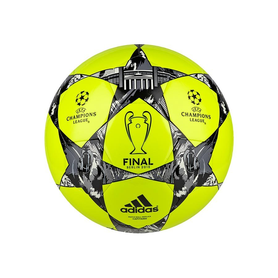 Ball adidas Finale Berlin Capitano Solar yellow-Black-Silver ... 4311fb54592cd