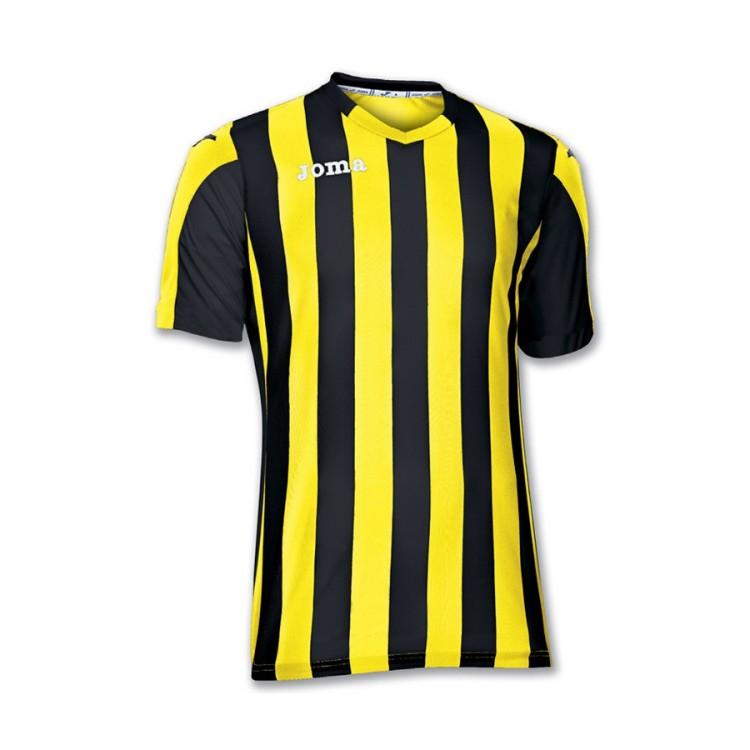 59fdd11ec Jersey Joma SS Copa Yellow-Black - Football store Fútbol Emotion
