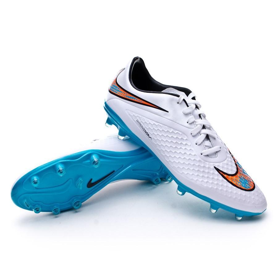 Boot Nike Hypervenom Phelon FG White-Total crimson-Blue ...