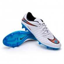 Hypervenom Phantom FG ACC White-Total crimson-Blue lagoon