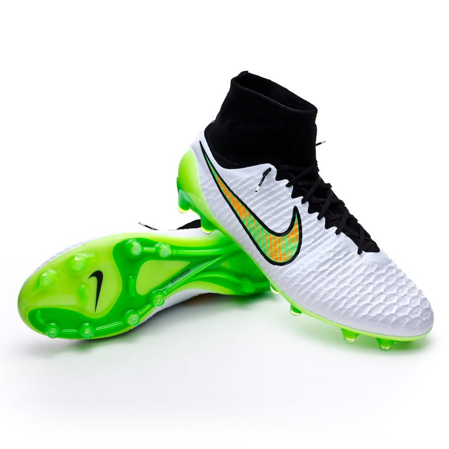 0794c1611 Nike Magista Obra FG ACC Football Boots. White-Poison green-Black-Total  orange ...