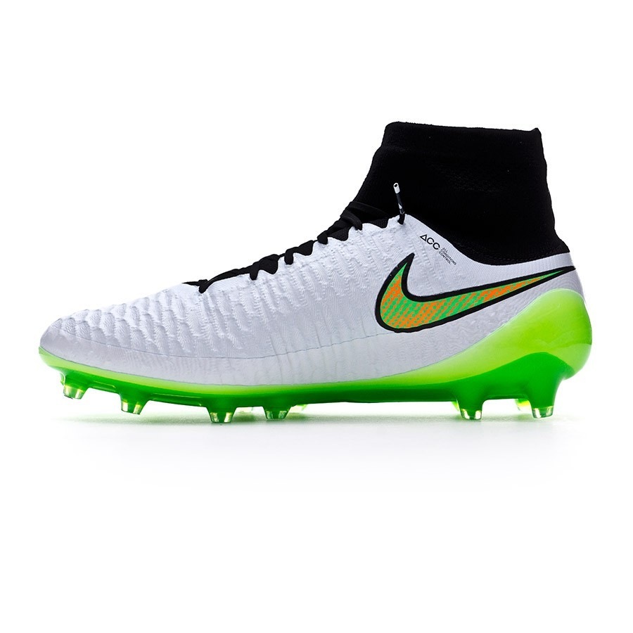 cf4f634c1 Football Boots Nike Magista Obra FG ACC White-Poison green-Black-Total  orange - Football store Fútbol Emotion