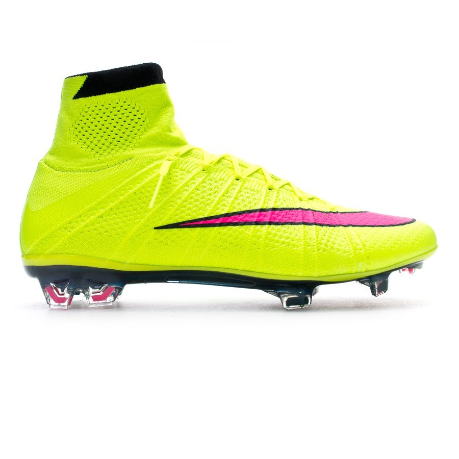 outlet store b8bb5 ffc09 Football Boots Nike Mercurial Superfly FG ACC Volt-Hyper pink-Black -  Football store Fútbol Emotion