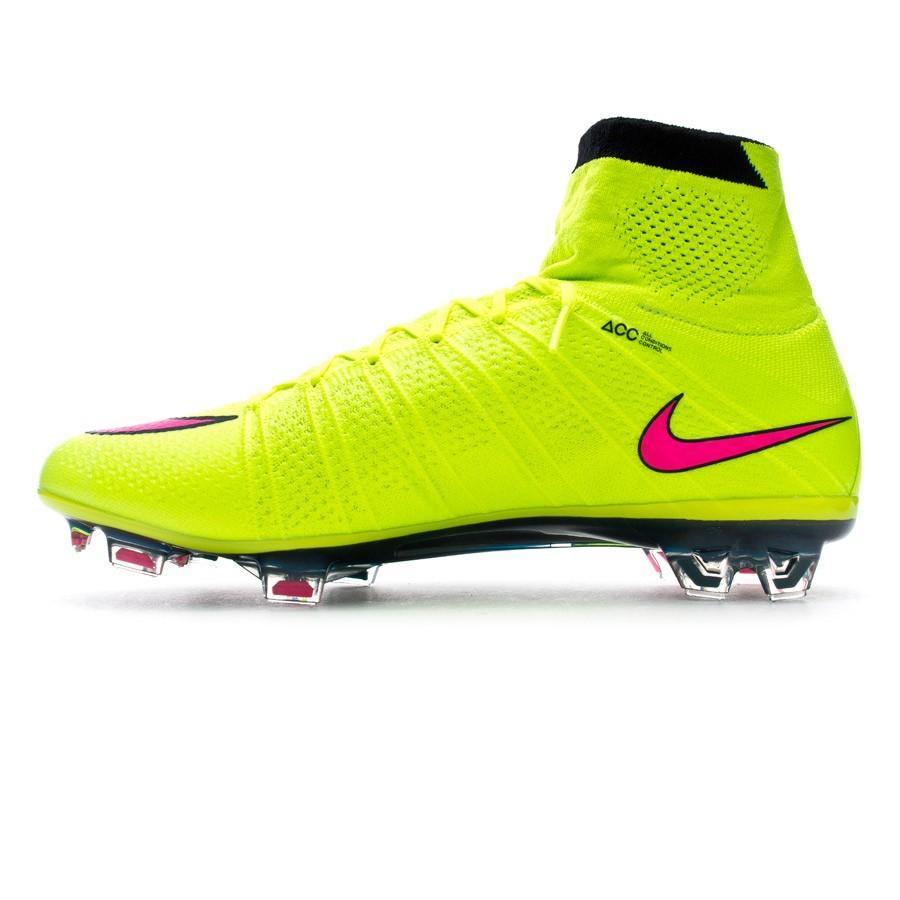 timeless design 2fc10 addd3 Zapatos de fútbol Nike Mercurial Superfly FG ACC Volt-Hyper pink-Black -  Soloporteros es ahora Fútbol Emotion