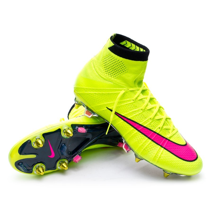 reputable site e95ee 43ab6 Boot Nike Mercurial Superfly SG-Pro ACC Volt-Hyper pink-Black - Football  store Fútbol Emotion