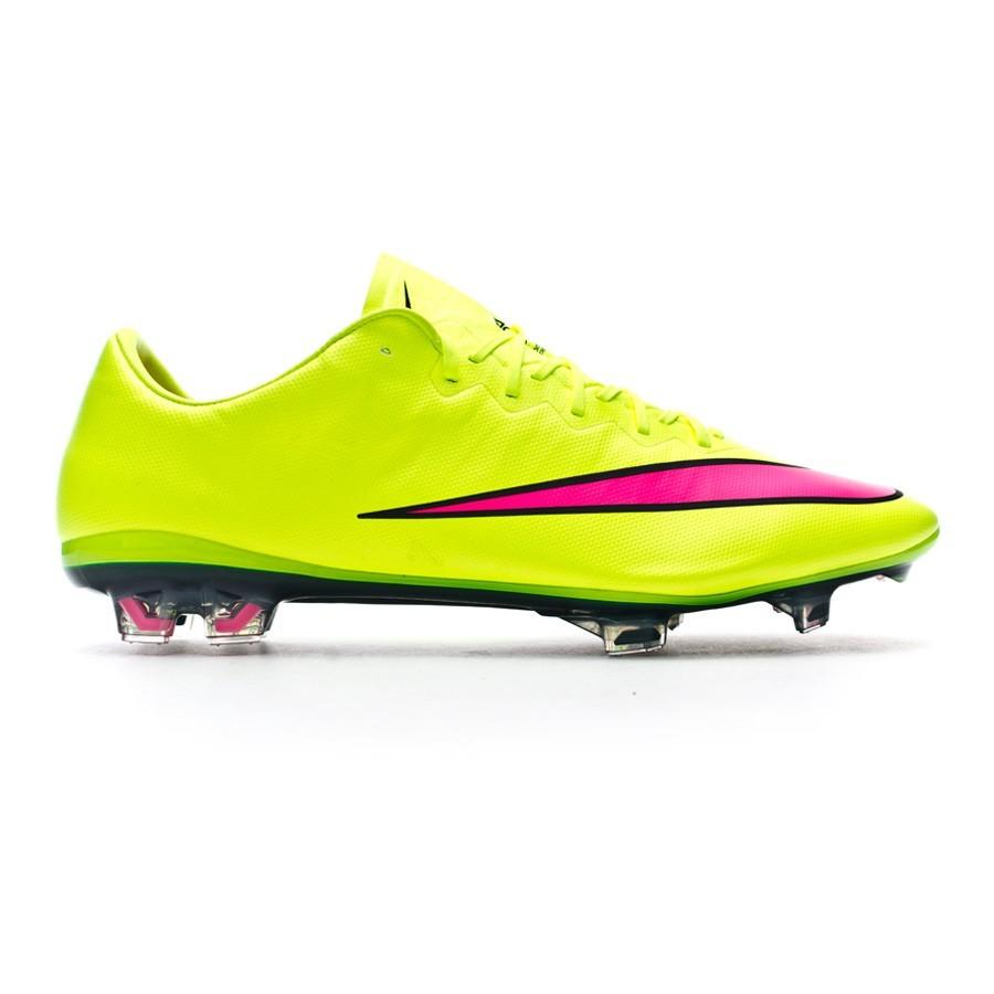 Boot Nike Mercurial Vapor X FG ACC Volt-Hyper pink-Black - Football ... e841a951e42