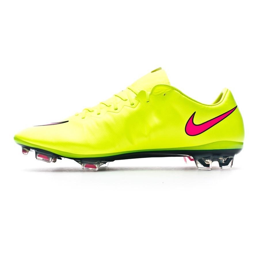 d5bae73a4 Football Boots Nike Mercurial Vapor X FG ACC Volt-Hyper pink-Black -  Football store Fútbol Emotion