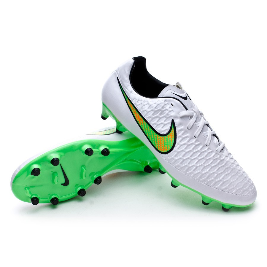 0d063a6e3764 Nike Magista Onda FG Football Boots. White-Poison green-Black-Total orange  ...