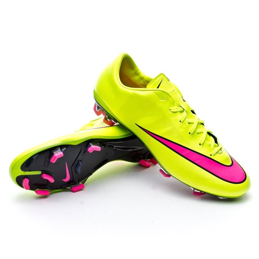 1be67b16bf2 Football Boots Nike Mercurial Veloce II FG Volt-Hyper pink-Black ...