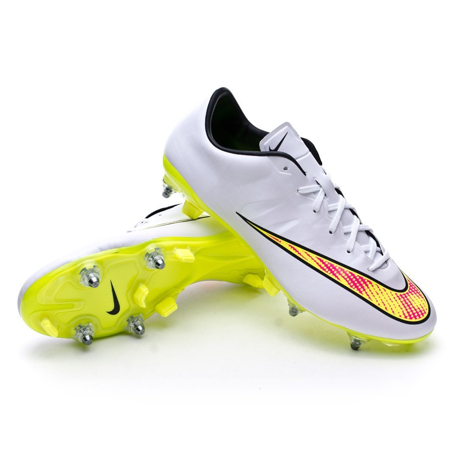 Boot Nike Mercurial Veloce II SG-Pro White-Volt-Black-Hyper pink - Football  store Fútbol Emotion 94bfcaf56