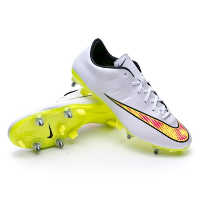 d6a7e93d62b Football Boots Nike Mercurial Veloce II SG-Pro White-Volt-Black-Hyper pink  - Football store Fútbol Emotion