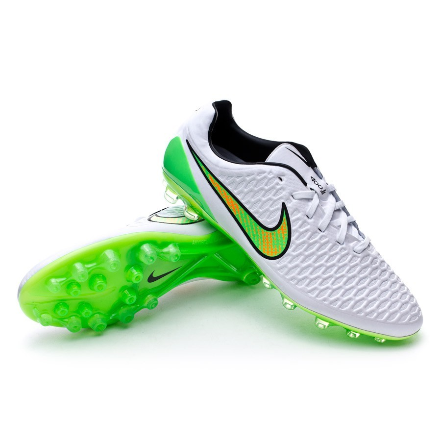 Boot Nike Magista Opus AG-R ACC White-Poison green-Black-Total orange -  Football store Fútbol Emotion a98c24ad4f5d
