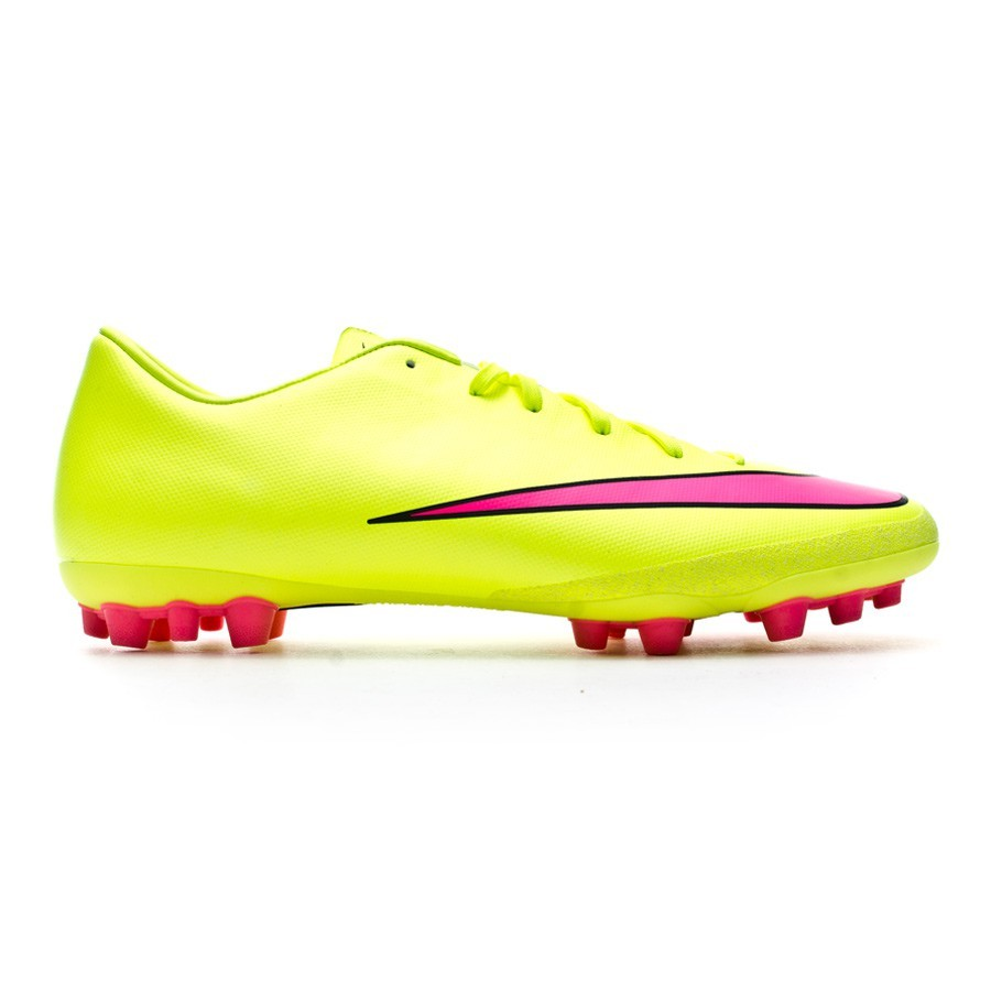 e768bcfe35506 Zapatos de fútbol Nike Mercurial Victory V AG-R Volt-Hyper pink-Black -  Tienda de fútbol Fútbol Emotion