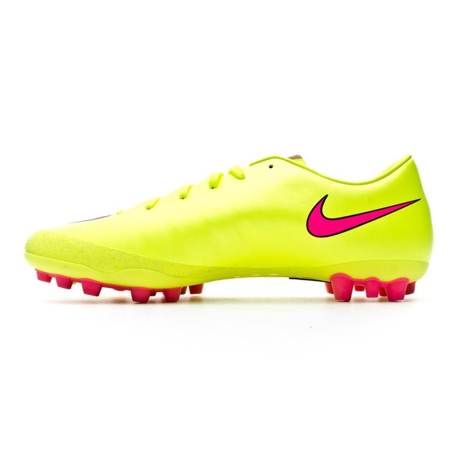 5d909784d6509 Zapatos de fútbol Nike Mercurial Victory V AG-R Volt-Hyper pink-Black -  Tienda de fútbol Fútbol Emotion