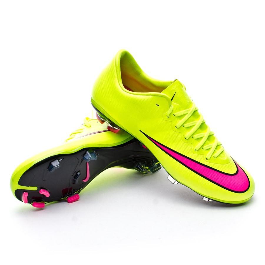 c3709bb3d212 Football Boots Nike Kids Mercurial Vapor X FG ACC Volt-Hyper pink ...
