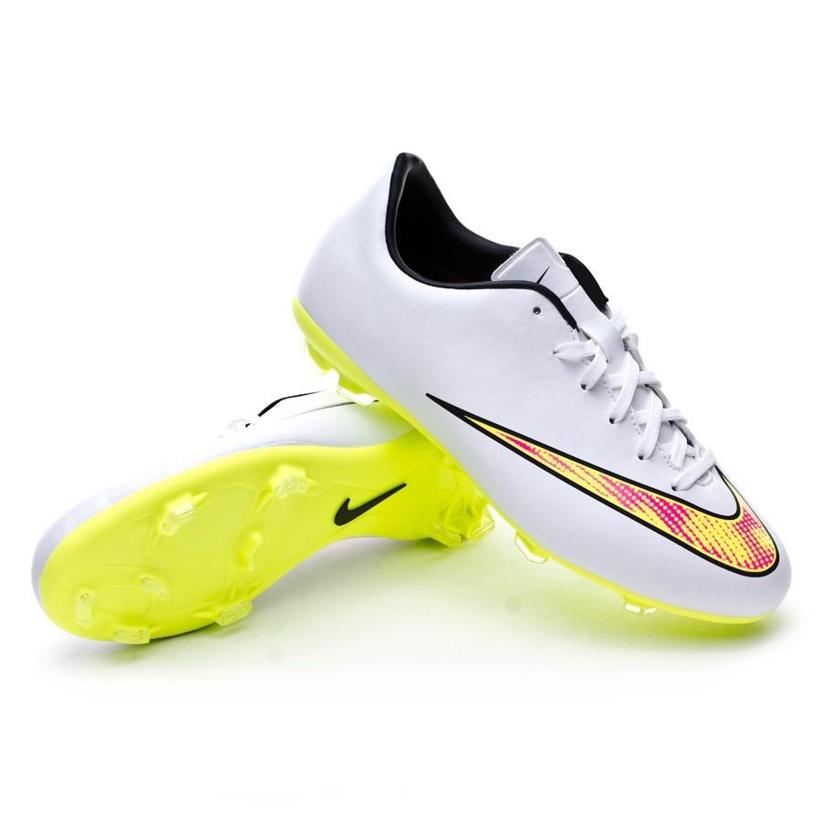 fc08b34d3e934 Football Boots Nike Jr Mercurial Victory V FG White-Volt-Black-Hyper ...