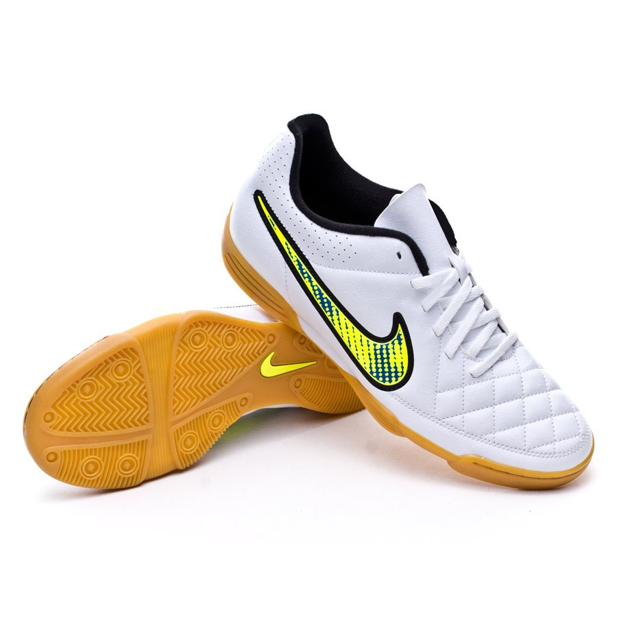 605f2c81d1a0 Futsal Boot Nike Tiempo Rio II IC White-Volt-Soar-Black - Football ...