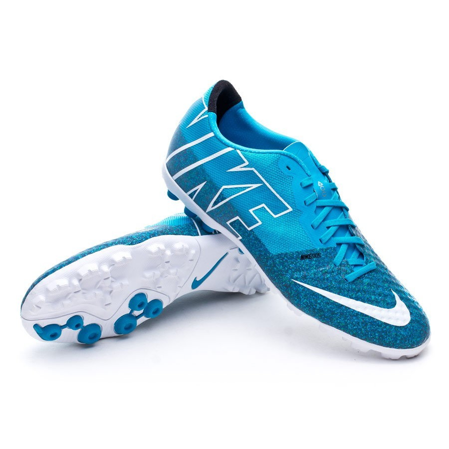 2323b15b3c62a Football Boot Nike Bomba Finale II Turf Blue lagoon-White - Football ...