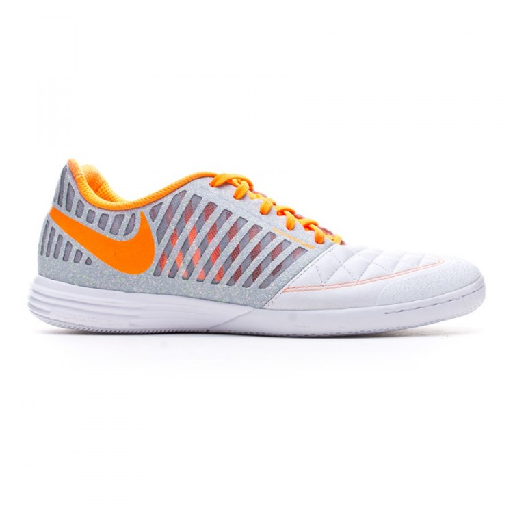 cfbbd80346aaaf Futsal Boot Nike Lunar Gato II White-Total orange-Wolf orange-Cool ...