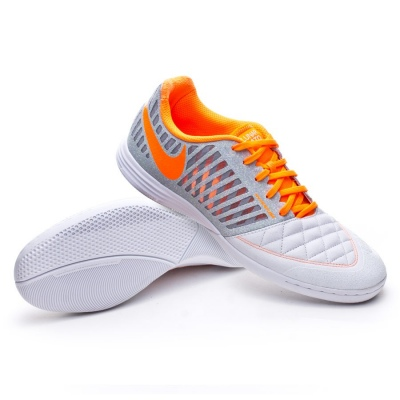 86fff7d58fdc69 Futsal Boot Nike Lunar Gato II White-Total orange-Wolf orange-Cool grey -  Football store Fútbol Emotion