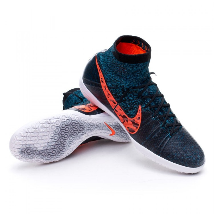 76b0eadad7718 Tenis Nike Elastico Superfly IC Black-Total crimson-Blue lagoon-Dark ...